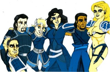 Wei Officers Colour by HisPurpleness