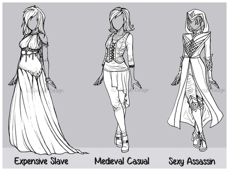 Outfit Design : Batch 4 (CLOSED) by JessyB-Design