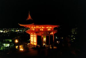 Shrine By Night by kymw