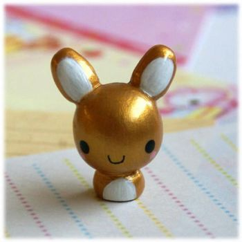 Gold Bunny Figure by Keito-San