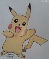 Pikachu and new sketch pad. by jj48bf