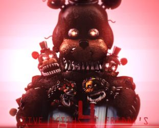 Five Nights at Freddy's 4 Poster (SFM FNAF) by TheSitciXD