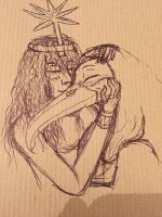 Egyptian Couples - Seshat and Thoth - The Nerds by YOUR-PLAGUE-DOCTOR