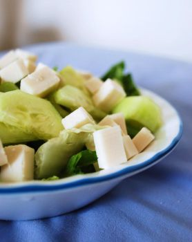Cucumber and Soy Cheese Salad by BlueBluebutterfly05