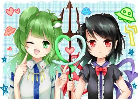 sanae and nue by syoudensatoko