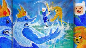 Against the Ice King (Painting) by Anagram-Daine