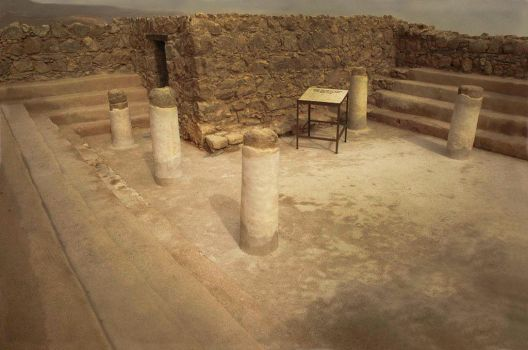 Oldest synagogue in the world, Masada, Israel by Gilberto694277