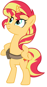EQG - Biped Pony Sunset Shimmer by REMcMaximus