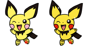 Pokemon #172 - Pichu by Fyreglyphs
