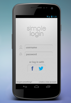 login UI by kejsi