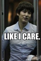 Like I Care: Kyu by AngelaLoiza