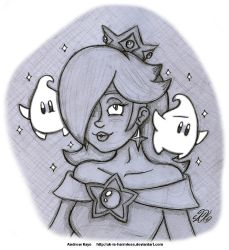 Sketch - Princess Rosalina by AK-Is-Harmless