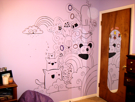 My bedroom wall. by Pinku-lolita