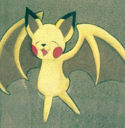 Pikabat by Pokemon-Fusion-Lover