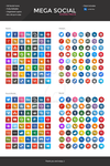 Mega Social Icon Pack - Long Shadows