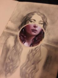 oil in moleskine experiment by Miles-Johnston