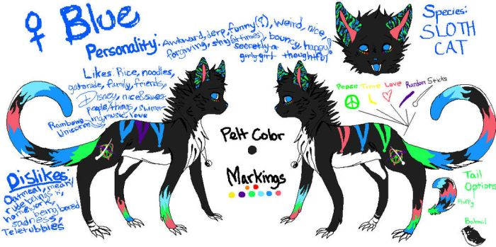 Blue Reference Sheet by Tigeress915