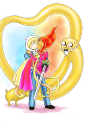 [Adventure time] Finn and Flame Princess by candy2007