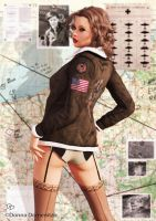 Bomber Girl Pinup 3 by donnaDomenitzo