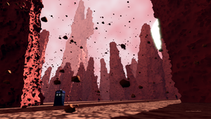 Doctor Who's TARDIS on Titan by TheBigDaveC