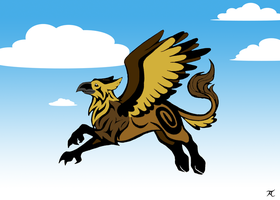 Tribal Gryphon by Skychaser