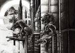 Werewolves at the Cathedral by xDunkelseelex
