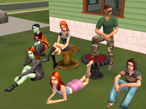 The Sims Team -03- by Nativeee-Goddess