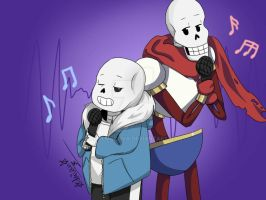 Sans and Papyrus by Akalmokova
