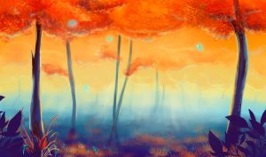 Flash mob_Landscapes_autumn forest by Stasushka
