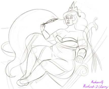 Princess of The Sun (outline) by Richiewolf