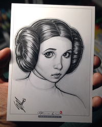 Carrie Fisher 1956-2016 by WarrenLouw