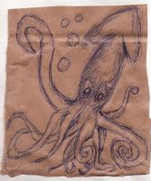 Squid on brown... by ashling