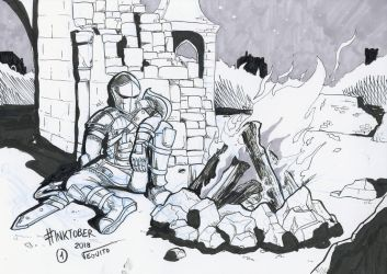 Inktober 2018 - Day 1 - Fire by Veguito2b