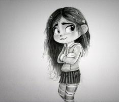 Vanellope - You Don't Know You're Beautiful by artistsncoffeeshops
