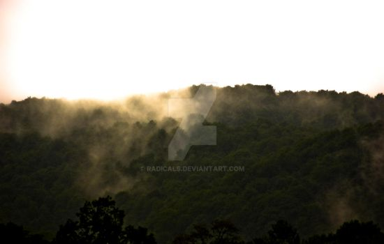 Fog over mountains by Radicals