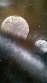 Two Moons - Spraypaint by Darklinkkyle