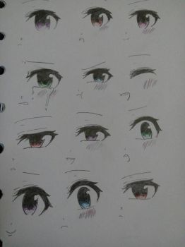 eyes girl anime by mswednesday