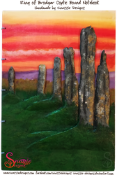 Handmade Ring of Brodgar Orkney Journal - Front 02 by snazzie-designz