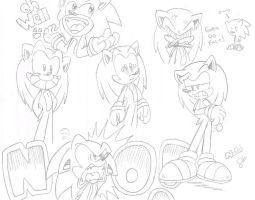 1-2 Minute Sonic Sketches by FritzyArtCorner