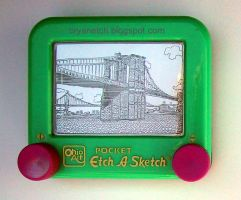 Brooklyn Bridge Etch by bryanetch