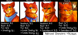 Commission Prices 2018 (OPEN) by flash-the-artist