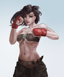 Boxing girl by Huy137