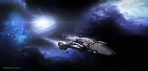 Space Gunship by TuranicRaider