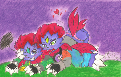 Weavile Siblings~ by YDdragon