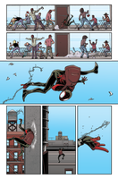 Ultimate Spider-Man Colour Sample 2 by giantboydetective