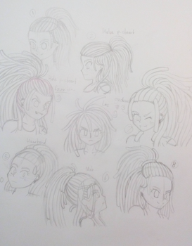 Experimental hairstyles part 1 by xElestar
