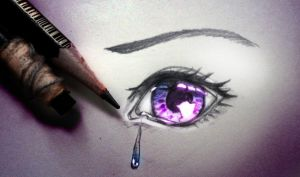CRYING SHINY EYE [with tutorial] by Shattered-Earth