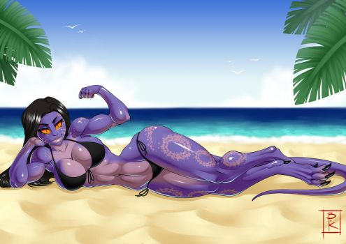 Commission: Sunbathing by Blunt-Katana