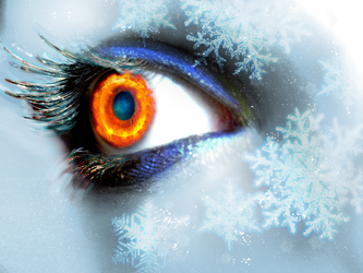 Fire Ice Eyes by VampireDSource