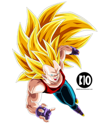 Vegeta SSJ3 DBGT Dokkan Battle Render by BillyZar
